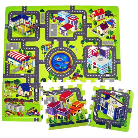 printable children s road map town village city road map activity soft foam childrens
