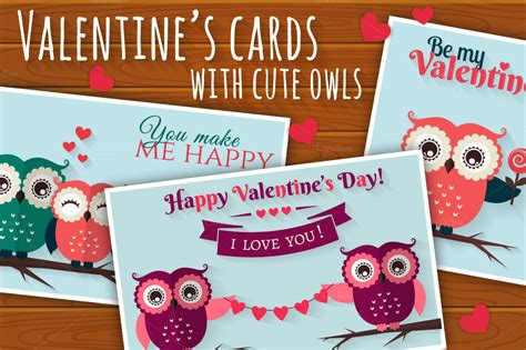 owl valentines day card template s cards with owls card templates on