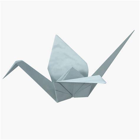 Origami 3d Models - 3d origami crane model