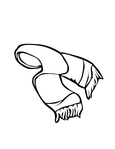 coloring page winter scarf printable girls winter scarf coloring pages for kids