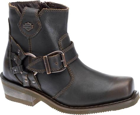 womens brown motorcycle boots harley davidson 174 s newhall 5 25 inch brown