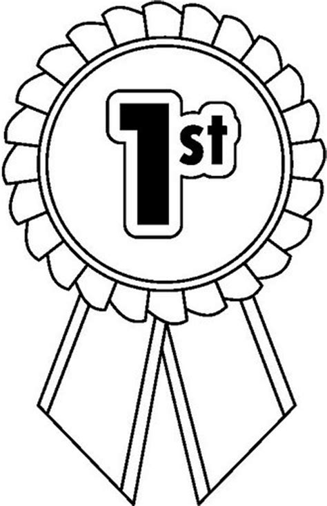 coloring page first place ribbon first place ribbon coloring pages pictures to pin on