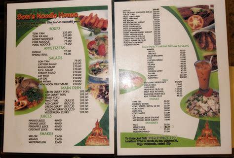 thai noodle house menu thai noodle house menu house plan 2017