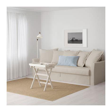 holmsund ikea holmsund three seat sofa bed nordvalla beige ikea