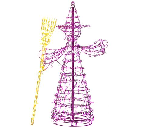 5 foot led witch figure by santa s best page 1 qvc
