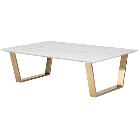 Nuevo Modern Furniture Hgsx140 Catrine Coffee Table W Marble Top Coffee Table