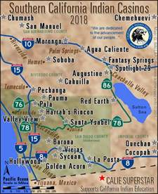 indian casinos in southern california map southern california casino locator san diego county