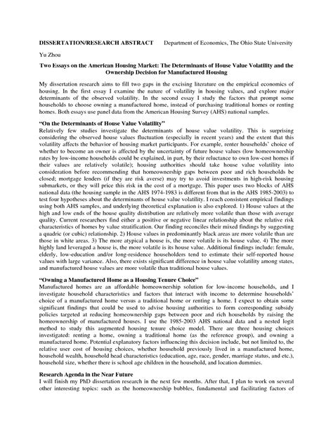 finance thesis abstract exle exle of abstract for thesis picture proyectoportal com