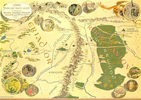 map of middle earth tolkien hobbit map the hobbit