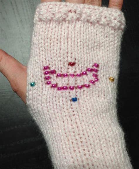 Sailor Moon Beaded Fingerless Gloves Knitting Pattern