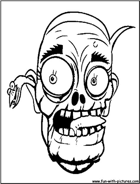 free printable zombie mask halloween scary masks coloring pages coloring home