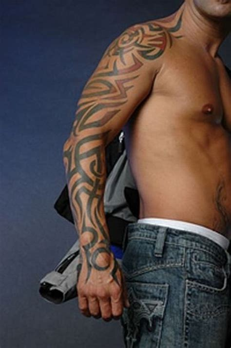 tribal tattoo full sleeve tribal arm tattoos pictures