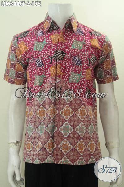 Batik Tulis Pria Motif Ikan koleksi terbaru baju hem batik lengan pendek motif ikan
