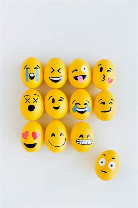 Emoji easter eggs for modern high tech peeps recycled crafts