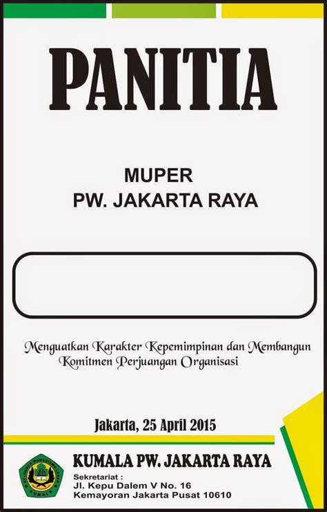 desain id card panitia muper kumala jakarta raya graphic