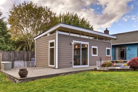Modern Shed Seattle by Prefab Guesthouse Kit Westcoast Outbuildings