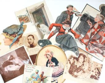 Decoupage Magazine Clippings - ad of wheat etsy