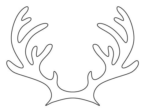 printable reindeer antlers to colour and wear printable reindeer antlers pattern use the pattern for
