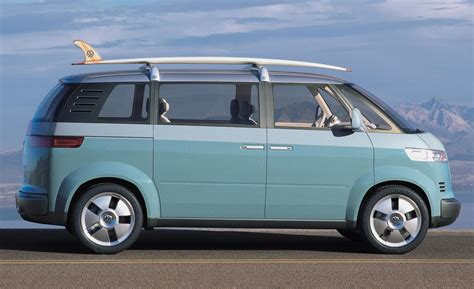 volkswagen microbus concept car and driver