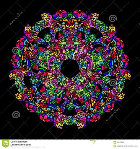 psychedelic mandala  stock vector image