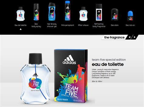 Parfum Adidas Di Alfamart adidas team five fragrance collection for