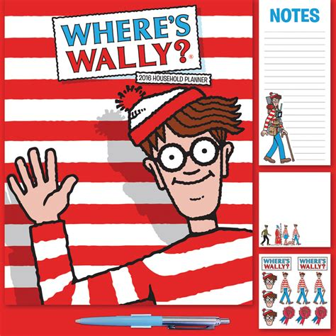 Calendar Where Is Wally Where S Wally Family Planner 2016 Square Wall Carousel