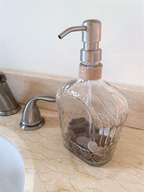 Dispenser Royal repurposed crown royal bottle soap dispenser earthtone