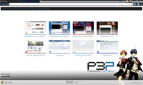 Persona Theme For Google Chrome   google chrome theme persona 3 portable 2 randomness thing