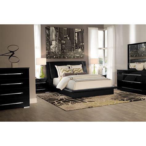city view bedroom set dimora black upholsterd platform bedroom