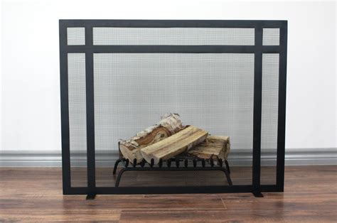Chimney Mesh Screen - clark fireplace screen anvil fireside