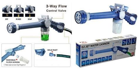 Ez Jet Water Cannon Asli empire ez jet water cannon 8 nozzle multi function spray