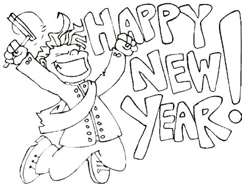 Coloring Pages Happy New Year 2011 Coloring Pages New Years Colouring Pages