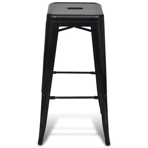 High Chair Stool bar chair high chair bar stool square 2 pcs black vidaxl