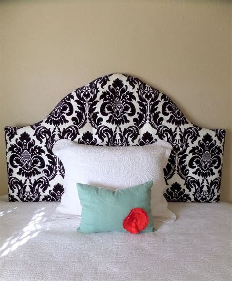 damask headboard black and white damask tufted upholstered headboard