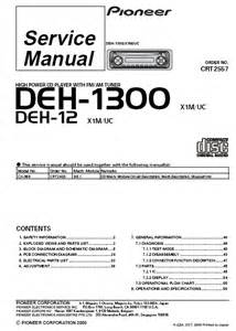 pioneer deh 1300 high power cd player service manual pdf