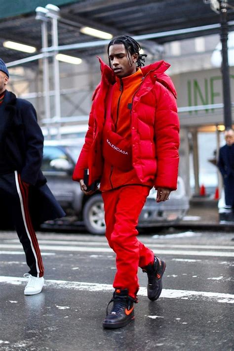 raf simons shoes asap rocky puffer jacket in in 2019 things to wear asap rocky fashion fashion balenciaga jacket