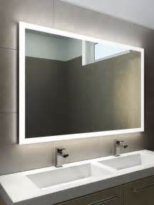 Bathroom Mirrors With Lights Halo Wide Led Light Bathroom Mirror 842h Illuminated Bathroom Mirrors Light Mirrors