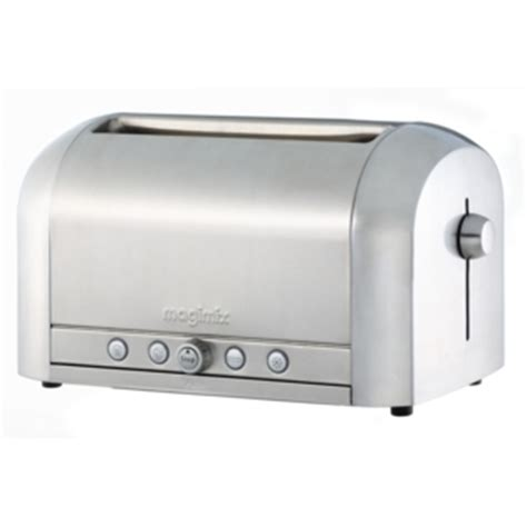 Brushed Steel Kettle And 4 Slice Toaster Magimix Toaster 4 Slice Brushed Steel Finish 11536