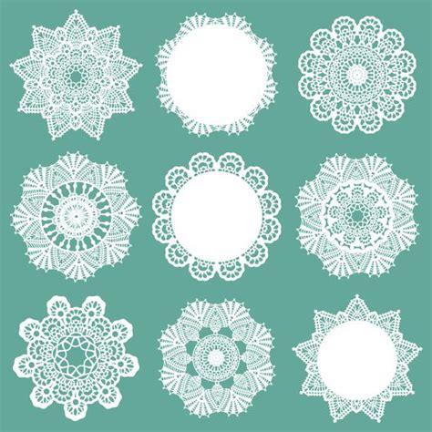 crochet pattern vector free vector doily patterns 12 3 at www shutterstock com
