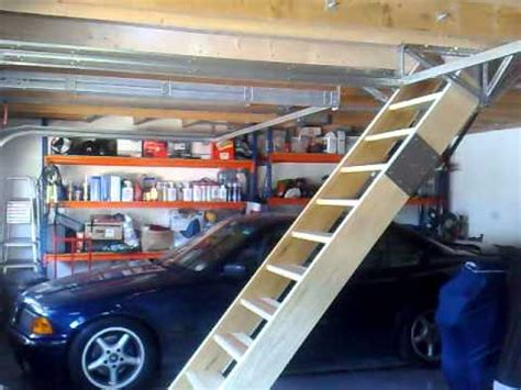 Garage Pull Stairs by Retracting Loft Staircase