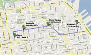 Google Maps San Francisco by San Francisco Tapas Crawl Redux It Sfoodtime