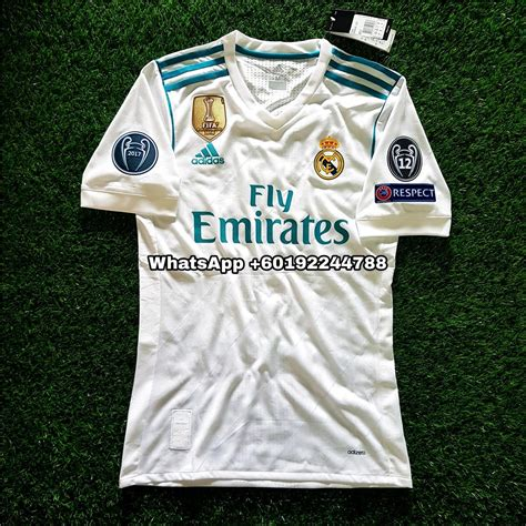 Real Madrid Home 2017 2018 Patch Ucl real madrid home jersey jersi 2017 end 7 12 2018 6 28 pm