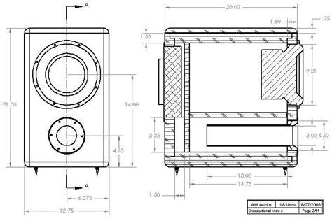 Speaker Ukuran 12 Inch ukuran box subwoofer 10 quot koleksi skema rangkaian artikel elektronika
