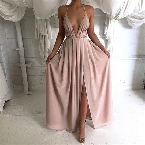 Sateen Pink Longpants 2016 silk satin v neck maxi dress with cross