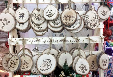 This saturday personalized wood burning ornaments at the shop
