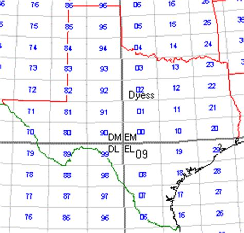 texas grid map wa5iyx texas grid square map