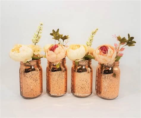 Vase Centerpieces For Baby Shower by Mercury Glass Vase Wedding Decor Bridal Shower