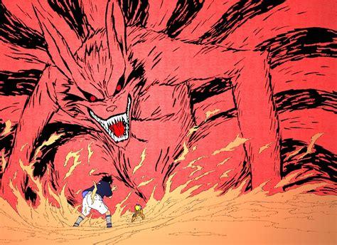 naruto kyuubi sasuke vs kyuubi naruto by fadewolf on deviantart
