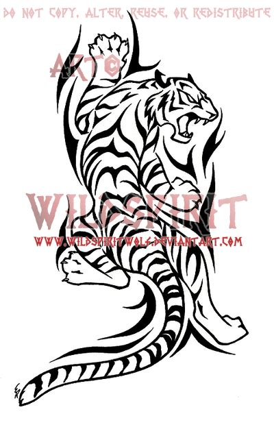 tiger with tribal tattoo 33 tribal tiger tattoos designs and pictures