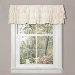 Country Window Valances Ivory Ruffled Valance Romantic Country Chic Ruffles Window